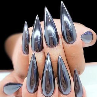 0.5g Sexy Mirror Black Nail Glitter Powder Dazzling DIY Chrome Pigment Dust for Nail Art Decoratio
