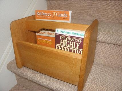 Solid Oak Book/Magazine Rack
