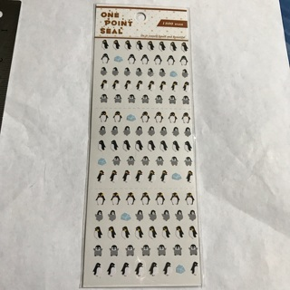 ✻ Baby Penguins Tiny One Point Seal Kawaii Sticker Sheet BRAND NEW ✻