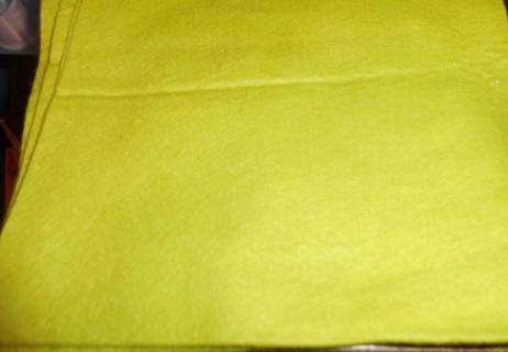 Lime Green Felt Qty 3 pieces 8 x 16