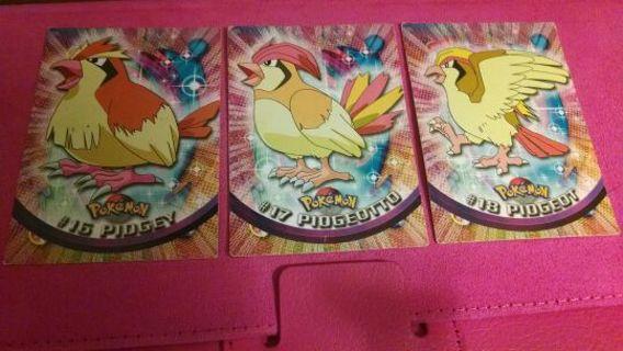 Topps Pokemon pidgey pidgeotto pidgeot