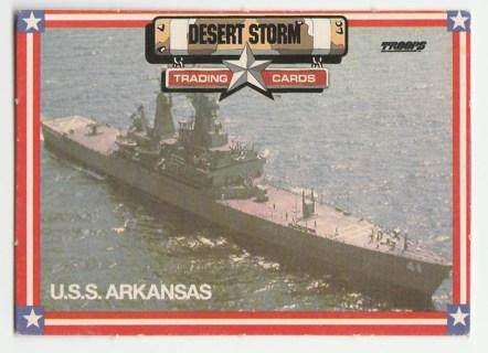 1991 SPECTRA STAR TROOPS DESERT STORM U.S.S. ARKANSAS #23 RARE CARD