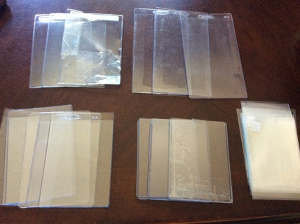 lot of Top Loaders & holders for baseball football basketball cards etc.