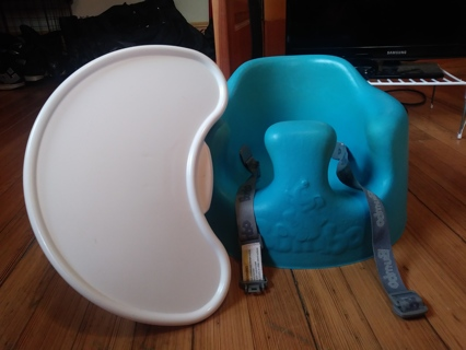 Baby Bumbo Seat with tray (blue)