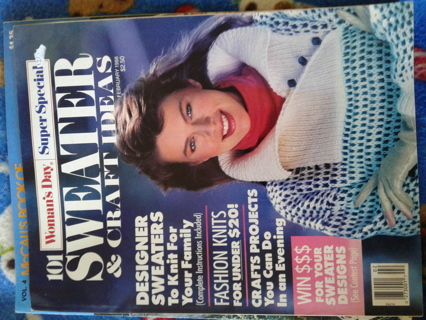 Sweater and craft idea magazine