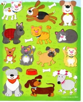 Carson Dellosa Dogs and Cats Shape Stickers