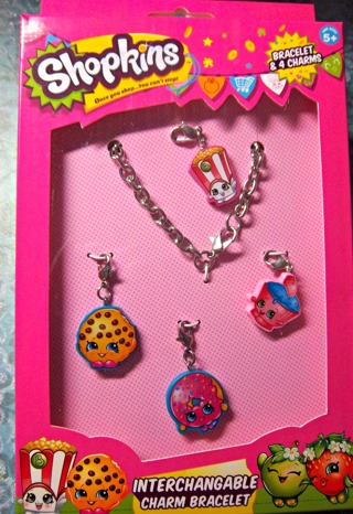 NEW - NEW SHOPKINS Interchangeable Charm Bracelet - Bracelet & 4 Charms FREE SHIPPING