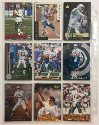 Lot of 18 Dan Marino HOFer Football Trading Cards 1990s!