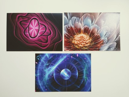 Set of 3 Fractal Art Prints