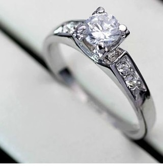 ❤★ ☆❤GIN for Only 37777 for 1 New 18K (STAMPED) Platinum Plated Wedding Ring with Austrian Crystals★