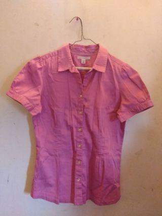 Banana Republic Pink Button Down Shirt