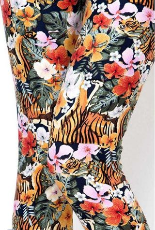 ONE SIZE TIGER LEGGINGS BUTTERY SOFT SIZES 2-12 NWT FREE SHIPPING!