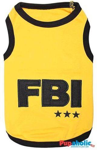 Pet Dog Clothes T-Shirt FBI XXS-3XL