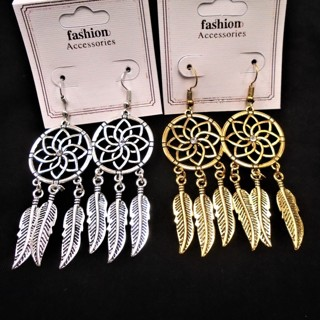 NEW Silvertone & Goldtone Fancy Dream Catchers with Metal Feathers