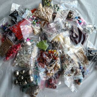 JEWELRY MAKING SUPPLIES, HUGE LOT, TONS OF BEADS, METAL FINDINGS, MORE ADDED EACH DAY!
