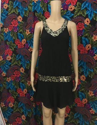 women's re:sound fringe dress medium