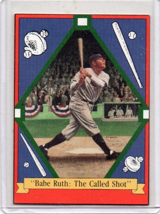 1992 Family of Babe Ruth Baseball Card: Babe Ruth : The Called Shot