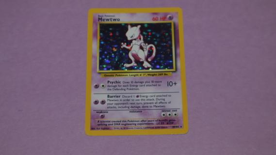 Pokemon Mewtwo 10/102 Holo Rare Base Set