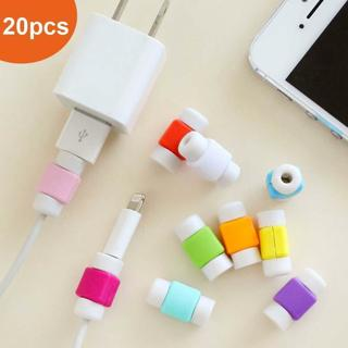 20PCS Protector Saver Cover for Apple iPhone Lightning Charger Cable USB Cord WT
