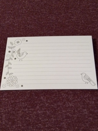 Lined Cards - Birds