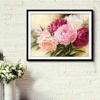 DIY 5D Diamond Embroidery Painting Peony Flower Cross Stitch Crafts Home Decor