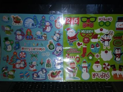 Christmas 2 big sticker sheets very nice lowest gins No refunds! Selling out!! No lower