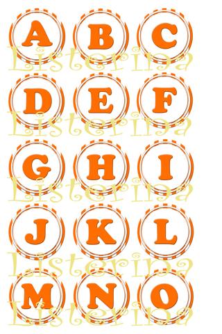 Free Orange Alphabet Letters Bottle Cap Images Emailed