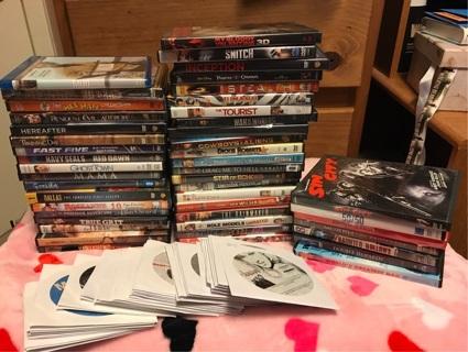 Huge dvd lot 93 dvds ..