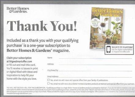 One Year Magazine Subscription FREE