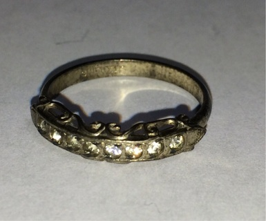 Vintage Women's Size 6 Antique Sterling Silver Ring (#6)