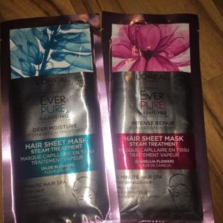 L'Oréal ever pure hair sheet mask
