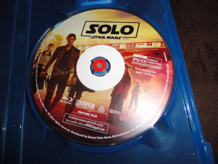SOLO: A Star Wars Story 2018 Blu Ray Disc BR #1