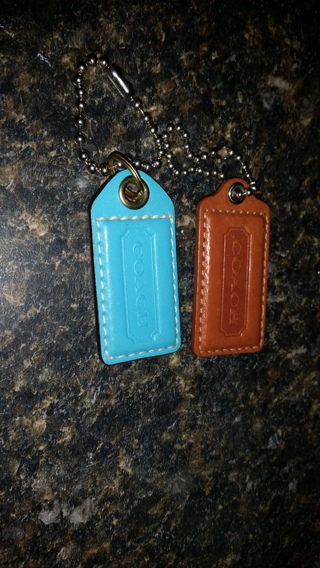 Coach Leather Hangtags NEW  x 2