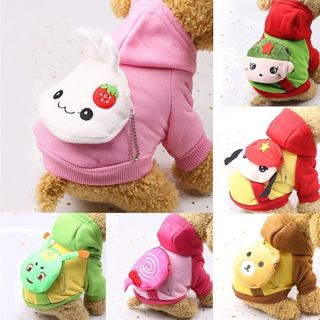 Cartoon Small Dog Clothes Pet Puppy Dog Apparel Sweater Sweatshirt Hoodie Lot