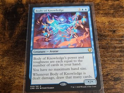 Magic the gathering mtg Body of knowledge Commander Legends rare card