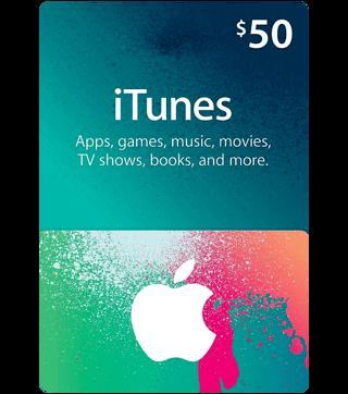 $50 iTunes gift card code