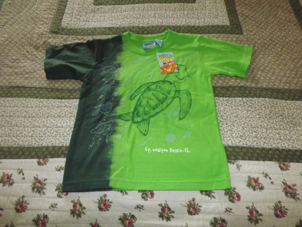 BACK TO SCHOOL SALE FT Walton Beach Florida Turtle Wild Gear Kids Boy's Shirt *NEW* Size Small
