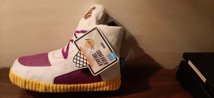Dog Chew Toy LA Lakers Sneaker NEW