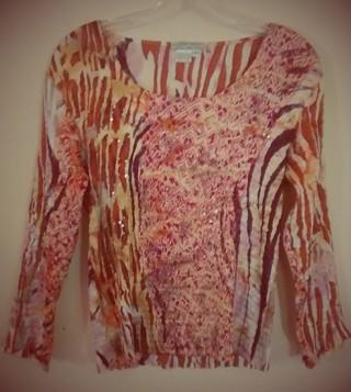 "New&Sparkly $78. DressyBlouse by ""Alberto Makali"" (NewYork-Paris-Milano) Ladies Sz 11-12, 13-14"
