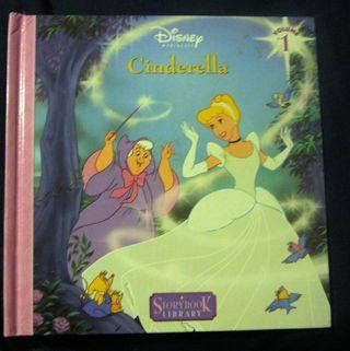 Disney Princess Cinderella Hardcover Story Book Library Vol 1