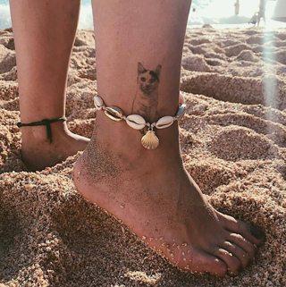 Bohemian Natural Sea Shell Conch Gold Anklets for Women Ankle Bracelet on Leg Chain Shell Boho