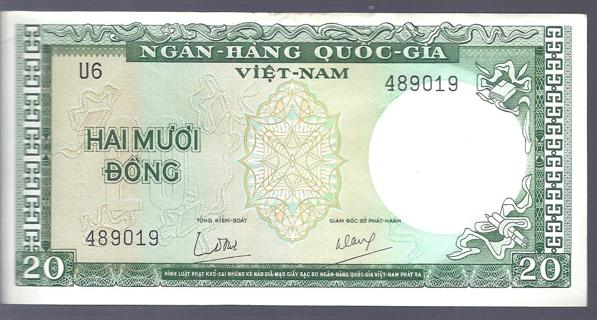 20 Hai Muoi Dong Paper Currency Viet Nam