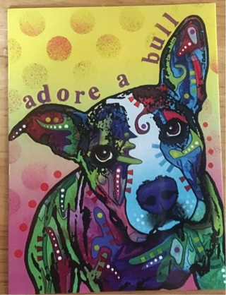 "ADORE A PIT BULL - 4 x 5"" MAGNET"