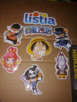 ONE PIECE⭐SET OF 7 STICKERS⭐WINNER GETS ALL SEVEN⭐ POSSIBLE BONUSES ⭐ FREE $HIPPING