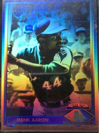Free 1991 Upper Deck Heroes Hank Aaron Hologram Hh1 Sports
