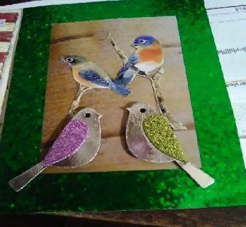 """❥❥❥""""Love Birds""""❥❥❥Design Blank Card with Envelope+Tag"""