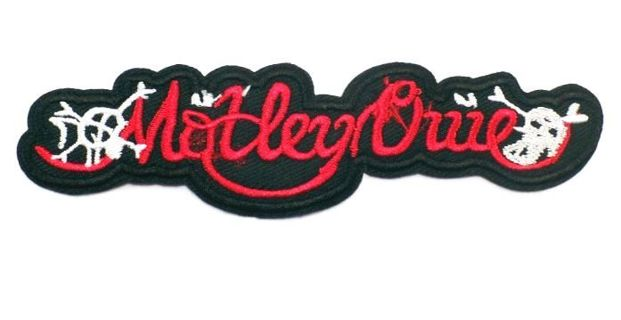 1 Motley Crue Logo Music Band Embroidered IRON ON Patch Heavy Metal Patches Clothing FREE SHIPPING