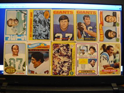 Lot of (10) Vintage Football Cards 1972-1980 w/ Stars & HOFers - READ