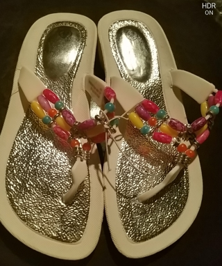 NWT!! Ladies Sandals,( Flip Flops, slip on shoes (whatever your like to call them) Size 6/7