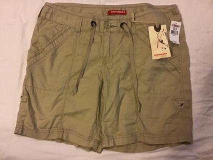NWT Union bay khaki beige walking/hiking shorts light weight